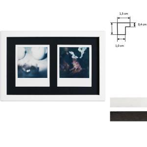 Bilderrahmen für 2 Sofortbilder - Typ Polaroid 600