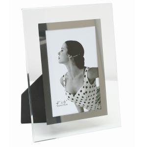 Glas-Fotorahmen Antwerpen mit silberner Innenkante