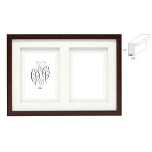 2er Holz-Galerierahmen Dentergem mit Doppelpassepartout