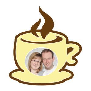 Motiv-Passepartout Kaffeetasse