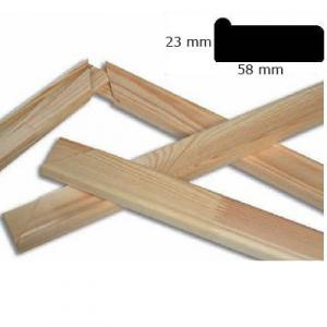 Kiefernholz Keilrahmen Leisten 19 x 45 mm auf Wunschmass gerundete Kanten