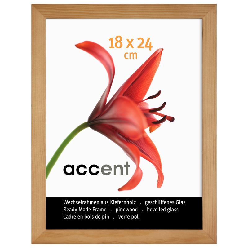 Accent Holz-Wechselrahmen Wood 10x15 - Natur - Normalglas ...