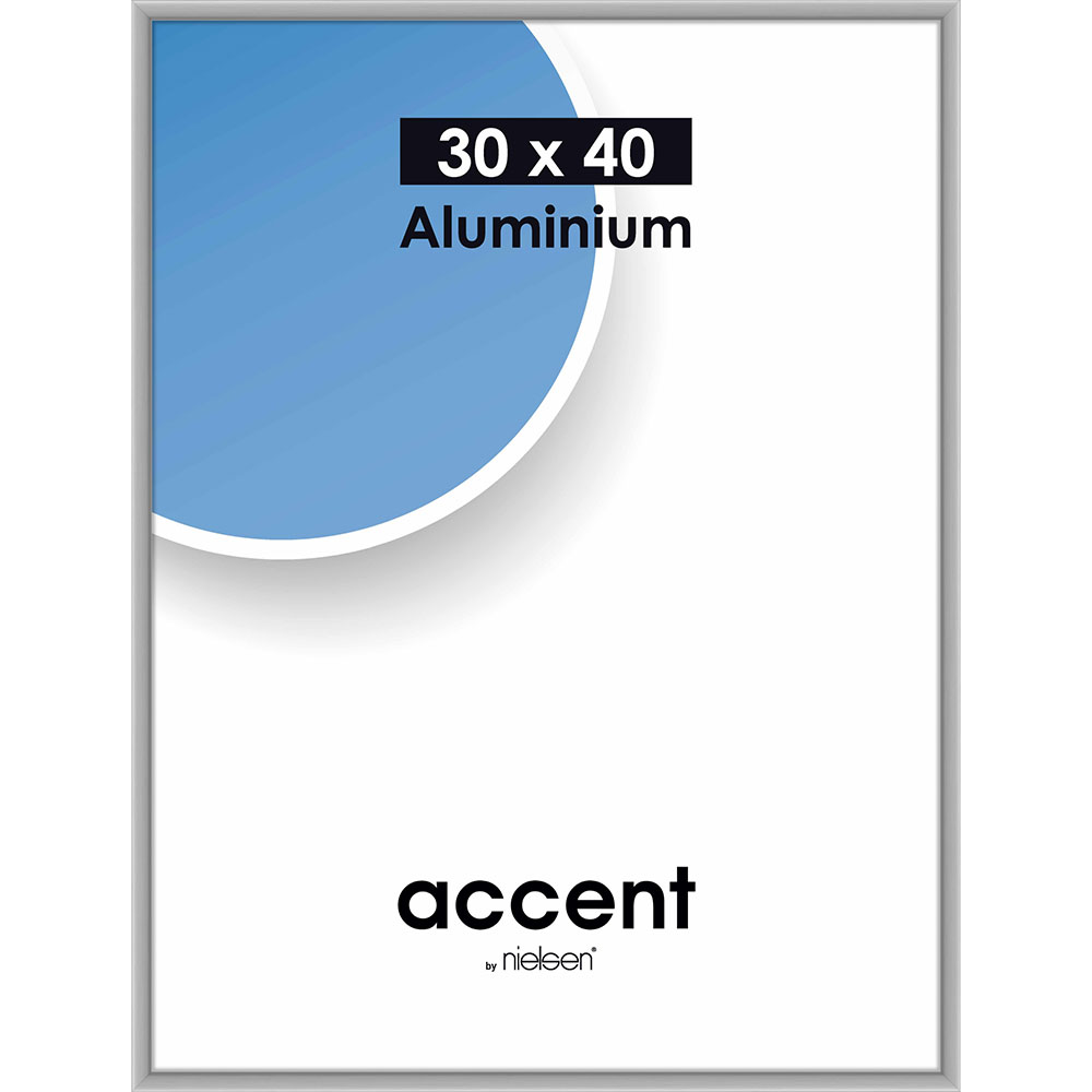 Alurahmen Accent 30x40 cm   Silber matt   Normalglas