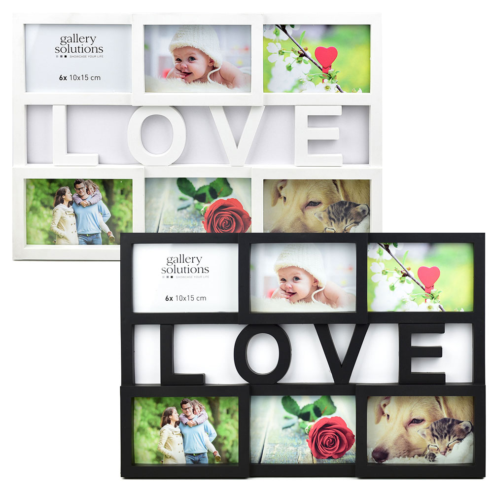 Collage-Bilderrahmen Love