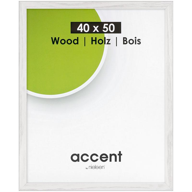Holz-Wechselrahmen Magic 21x29,7 cm (A4) | Weiß | Normalglas