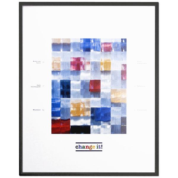 Alu-Wechselrahmen Dornbirn 30x45 cm | Schwarz | Normalglas