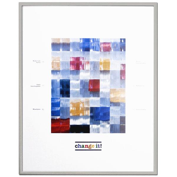 Alu-Wechselrahmen Dornbirn 40x40 cm | Silber | Normalglas