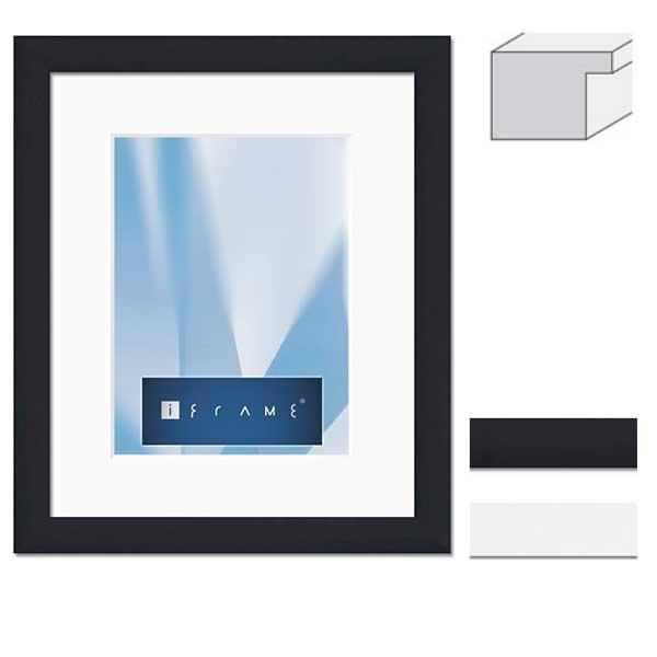 aicham larson juhl iframe holz wechselrahmen pure ii 70x100 cm schwarz normalglas. Black Bedroom Furniture Sets. Home Design Ideas