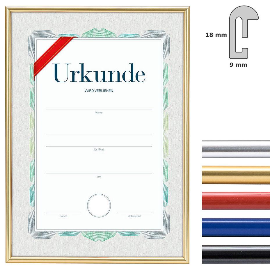 Kunststoff Bilderrahmen mit Urkunde, DIN A4