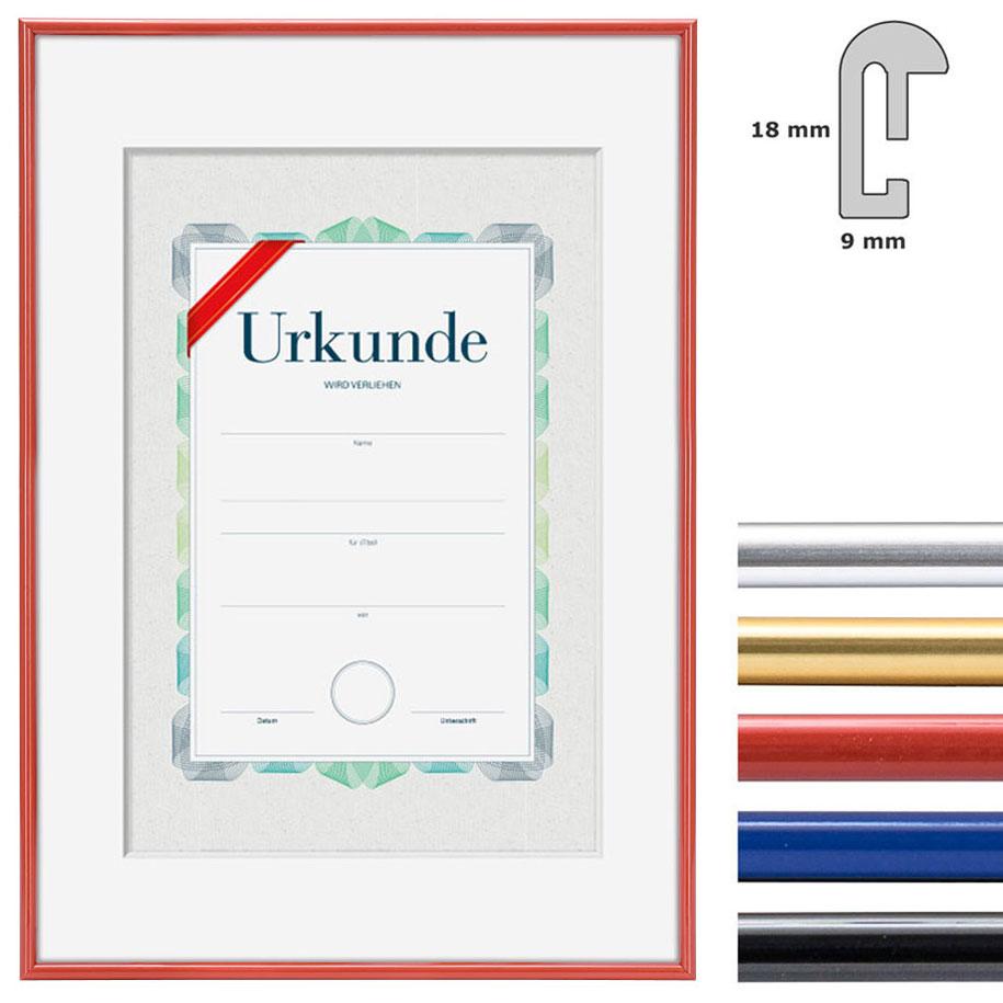 Kunststoff Bilderrahmen mit Urkunde, DIN A3
