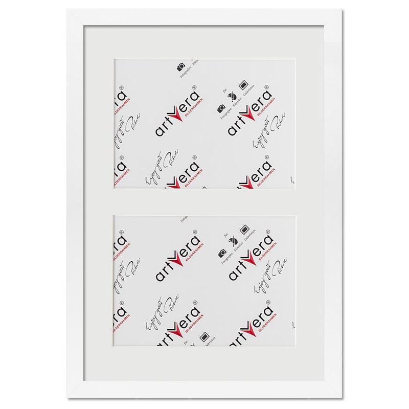 2er Galerierahmen Uppsala, 25x35 cm - 13x18 cm 25x35 cm (2 Ausschnitte in 13x18) | Weiß | Normalglas