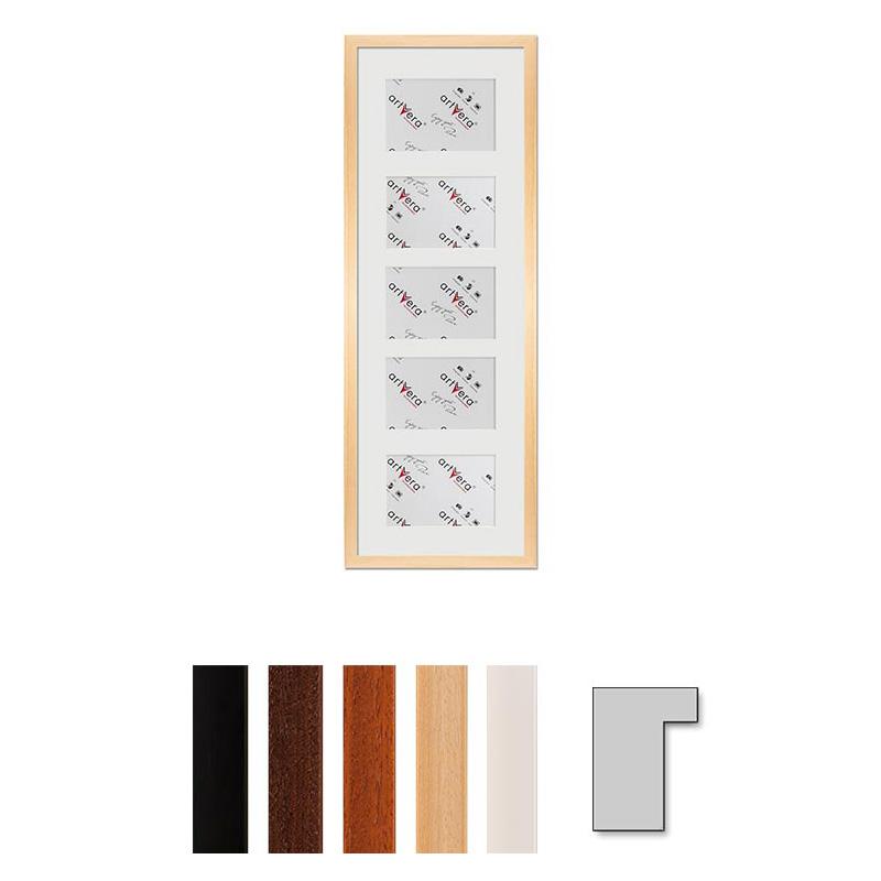 "5er Galerierahmen ""Lund"", 23x70 cm - 10x15 cm"