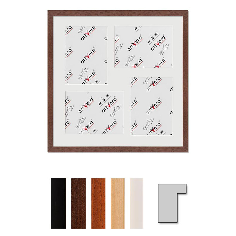 "4er Galerierahmen ""Lund"", 40x40 cm - 13x18 cm"