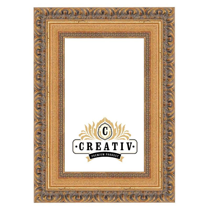 Barock-Bilderrahmen Cremona 20x30 | gold | Leerrahmen (ohne Glas und Rückwand)