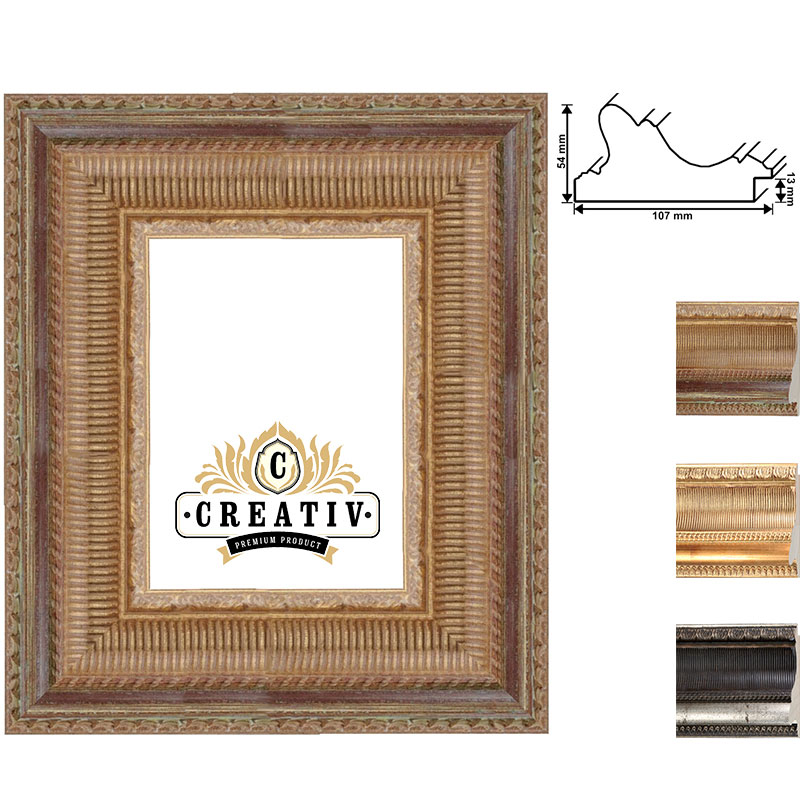 Barock Holzbilderrahmen Forli Maßanfertigung