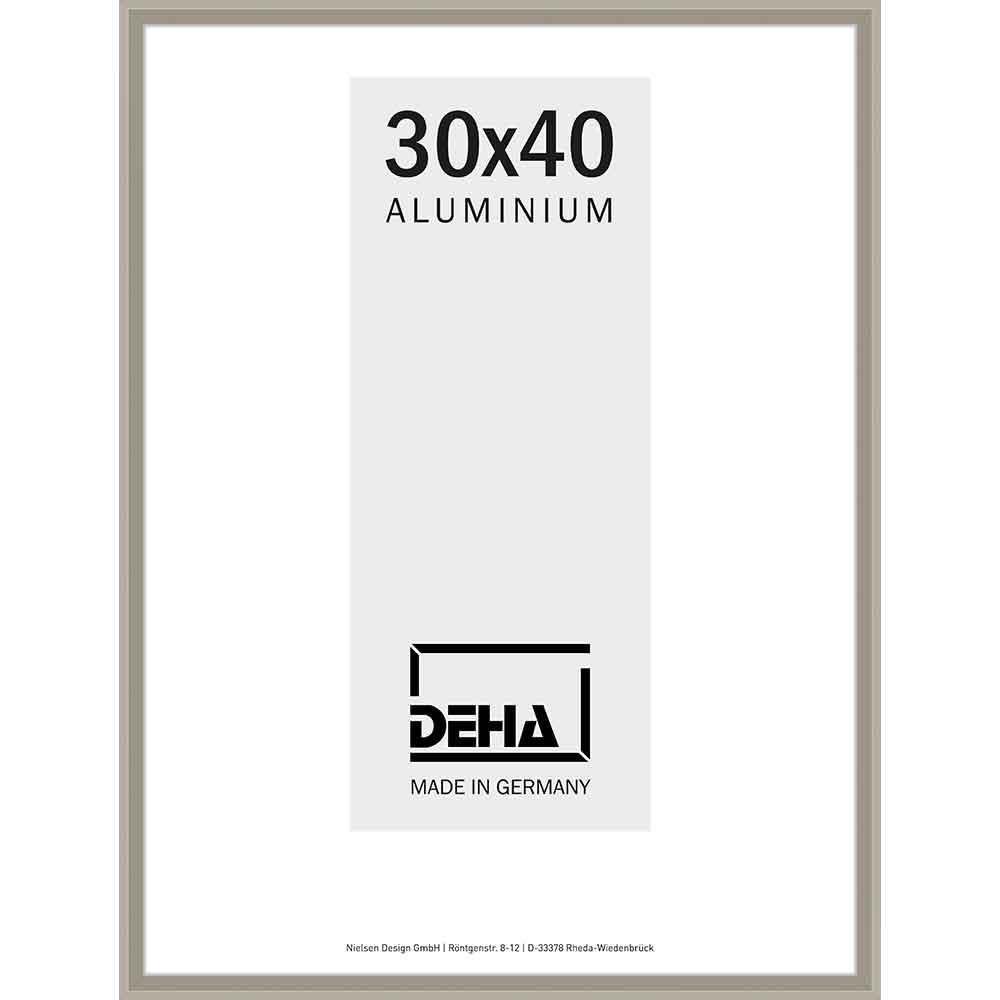 Alurahmen Mizar 40x40 cm | Altsilber | Normalglas
