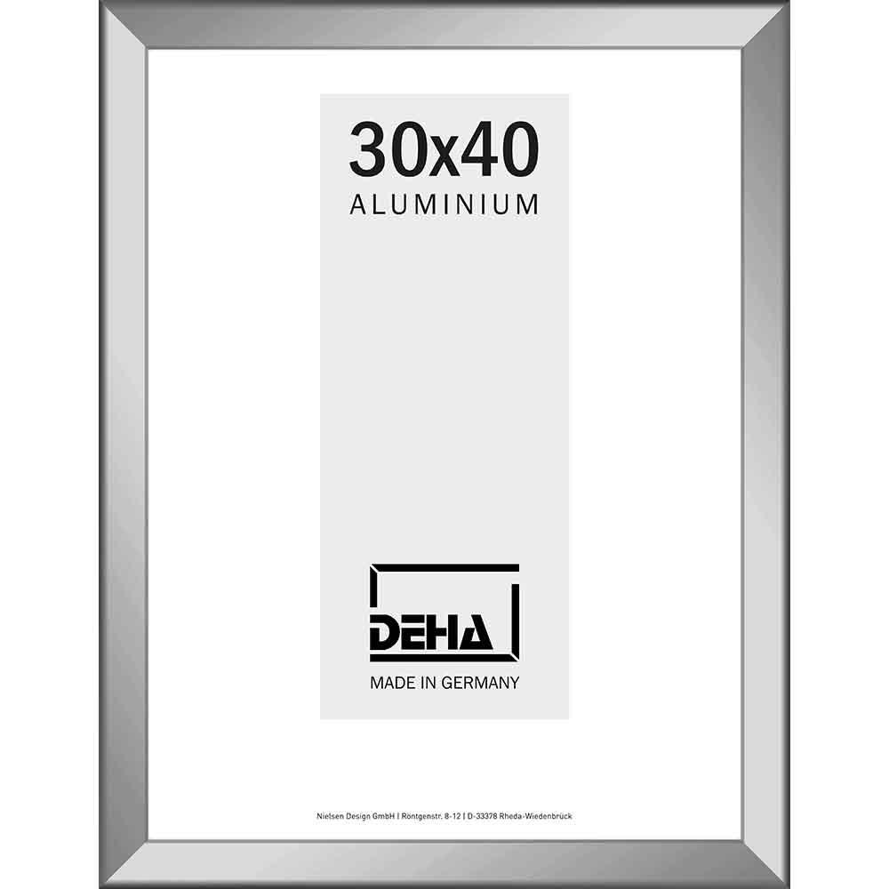 Distanz-Aluminium Bilderrahmen Spika 20x28 cm | Natur glanz | Normalglas