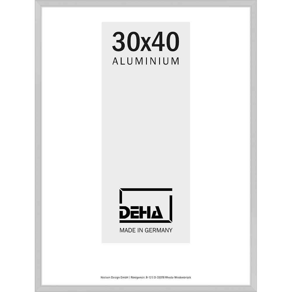 Aluminium Bilderrahmen Superba 50x60 cm | Natur matt | Kunstglas