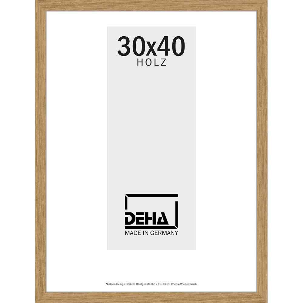 Holz Bilderrahmen Hamal 50x65 cm | Eiche | Normalglas