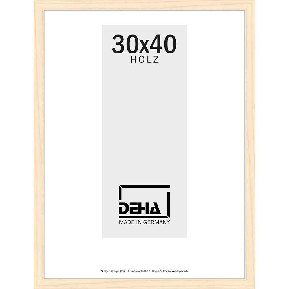 Holzrahmen Hamal 50x65 cm | Kiefer natur lasiert | Normalglas