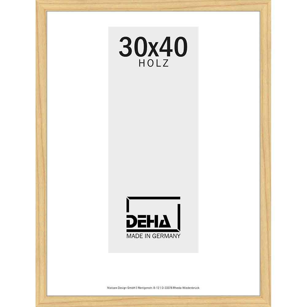 Holzrahmen Hamal 50x65 cm | Kiefer natur unbehandelt | Normalglas
