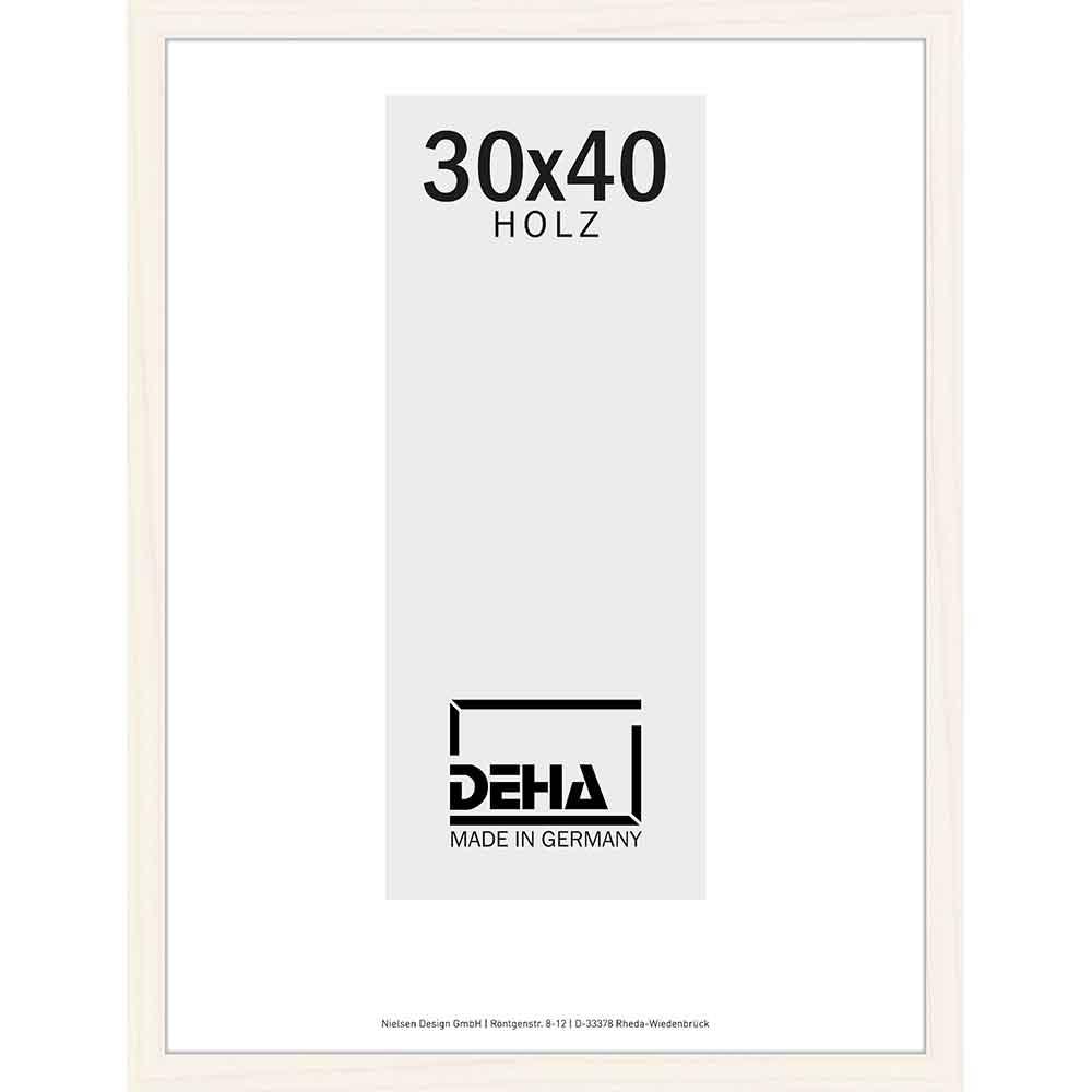 Holzrahmen Hamal 50x65 cm | Kiefer Weiß lasiert | Normalglas
