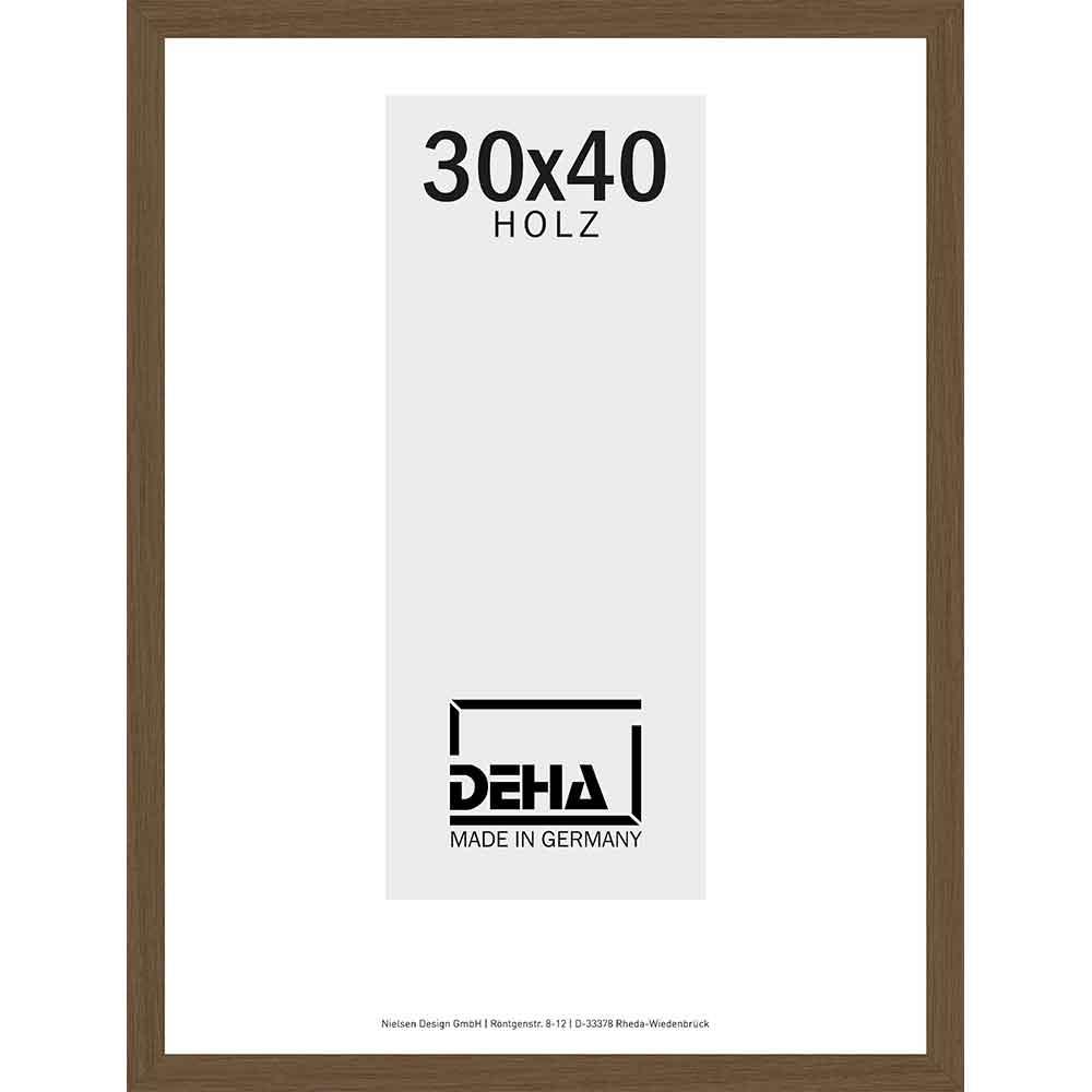 Holzrahmen Hamal - Sonderzuschnitt Nuss | Antireflex-Acrylglas UV 100