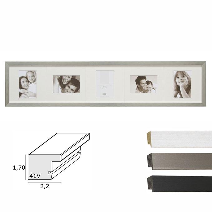 5er-Galerierahmen Vorselaar mit drehbarem Passepartout