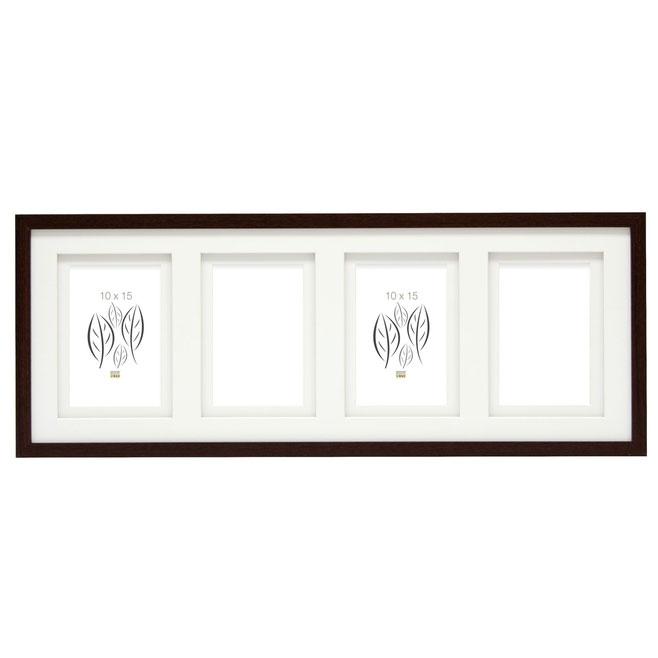 4er Holz-Galerierahmen Dentergem mit Doppelpassepartout