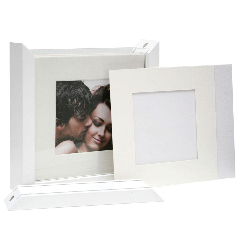 Fotodose mit Passepartouts und selbstklebendem Karton