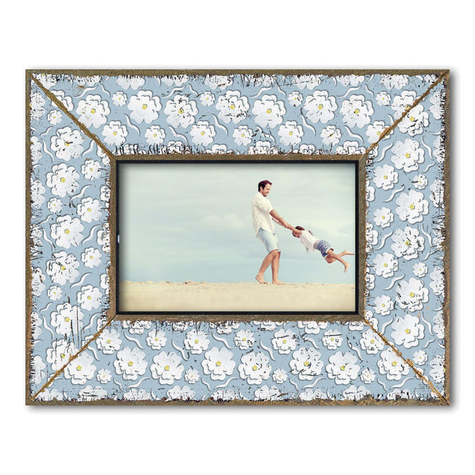 Dekolino White Blossom on Blue