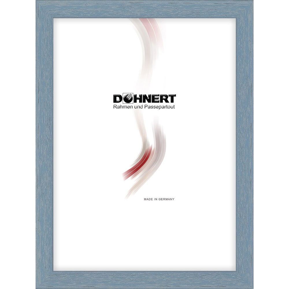 Holz Bilderrahmen Bermondsey 15x20 cm | Himmelblau | Normalglas