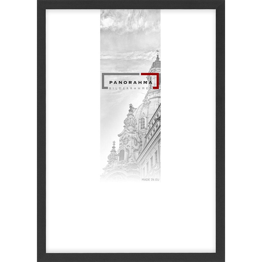 Aluminium Bilderrahmen Houston 9x13 cm | Schwarz matt | Normalglas