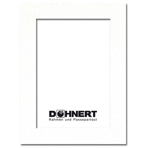 Passepartout mit eigenem Ausschnitt Außen: 50x60 | Meißenweiß