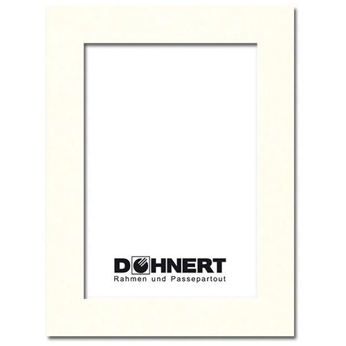 Fertig Passepartout 30x40 cm (20x30 cm) | Elfenbein