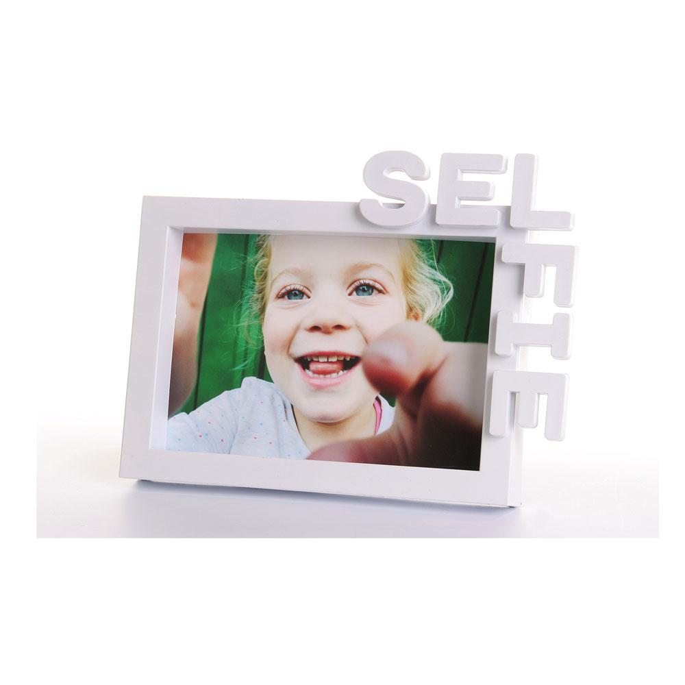 Portrait Bilderrahmen Selfie für 1 Foto 10x15 cm | weiss