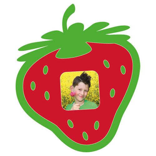 Motiv-Passepartout Erdbeere
