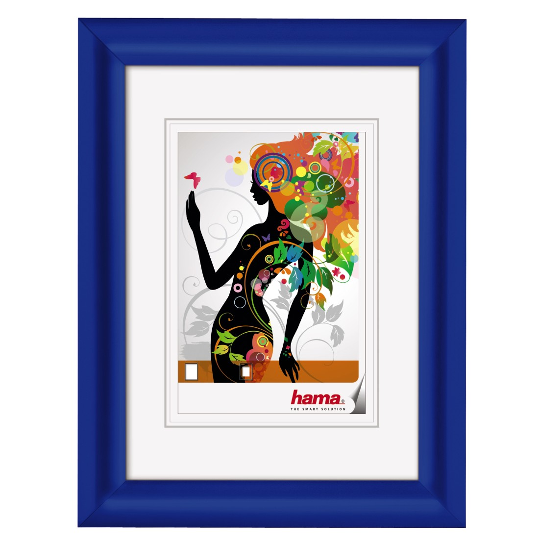 "Kunststoffrahmen ""Malaga"" 13x18 cm   Blau   Normalglas"