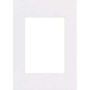 Fertig-Passepartouts 10x15 cm (7x10)   Arktisweiß