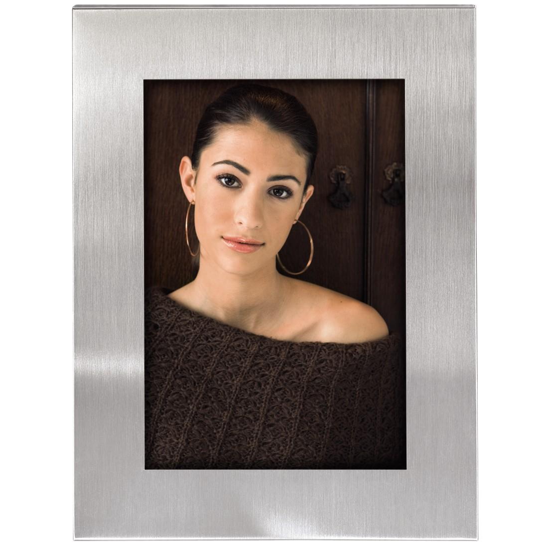 "Porträtrahmen ""Cardiff"" 15x20 cm | Silber | Normalglas"