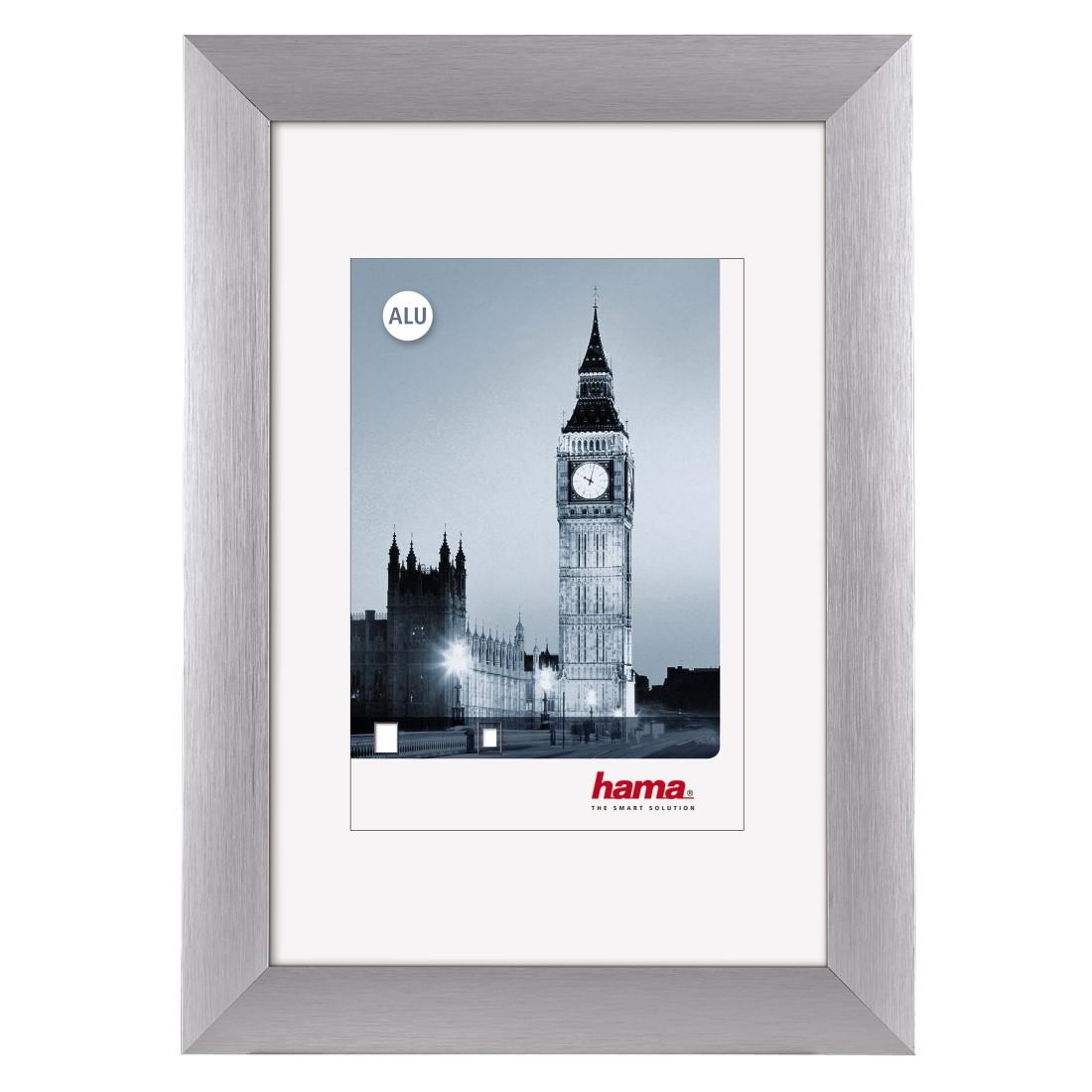 "Aluminiumrahmen ""London"" 13x18 cm | Silber | Normalglas"