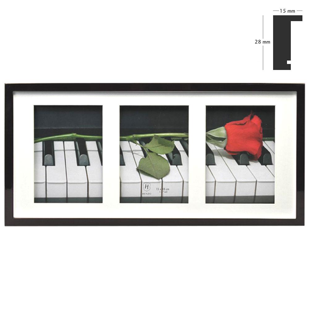 Galerierahmen Piano für 3 Bilder