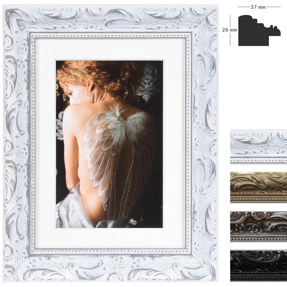 Holz-Bilderrahmen Chic Baroque mit Passepartout