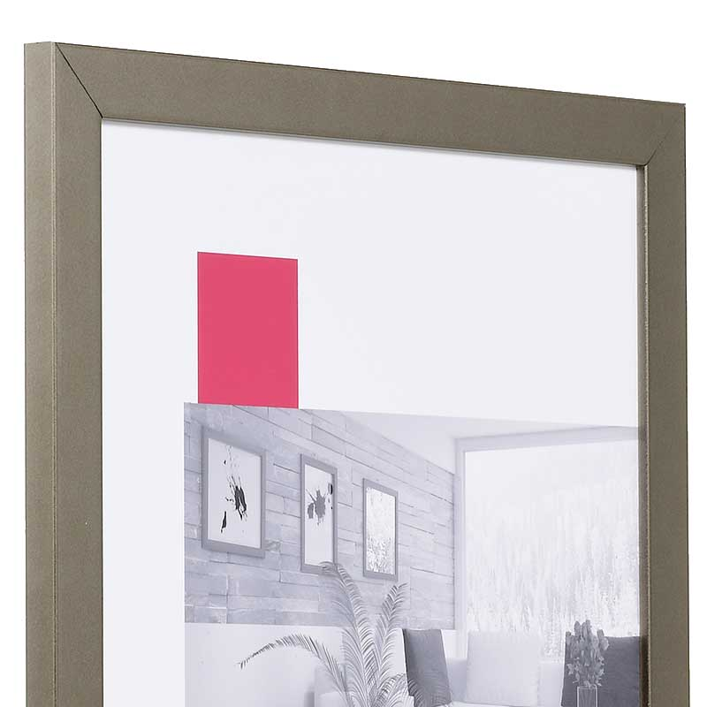 Aktionsrahmen Top Pro 10x15 cm | platin | Normalglas
