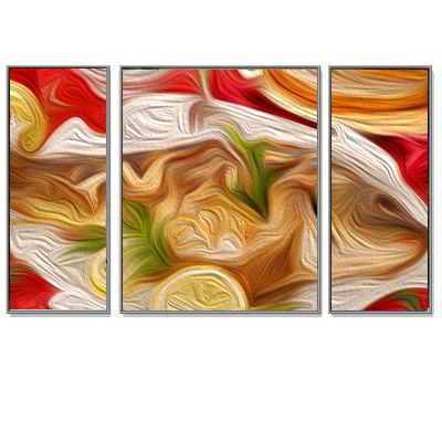 Triptychon Bilderrahmen-Set Alu Bilderrahmen Quadro