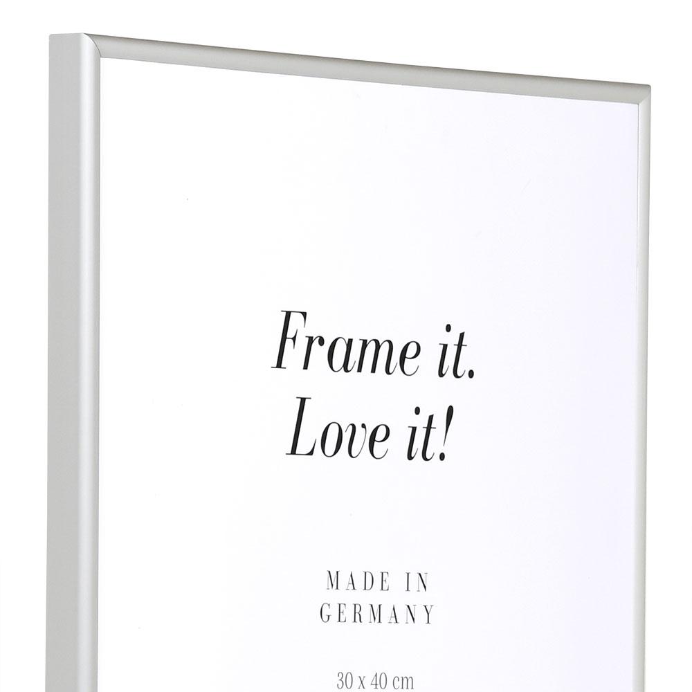 Alu Bilderrahmen Econ rund 13x18 cm | silber matt | Normalglas