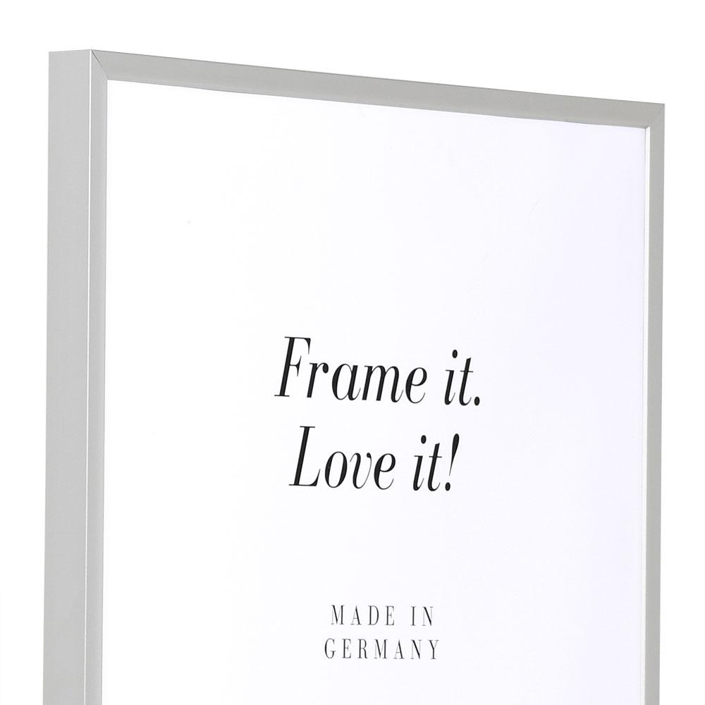 Alurahmen Econ eckig 40x40 | silber matt | Normalglas