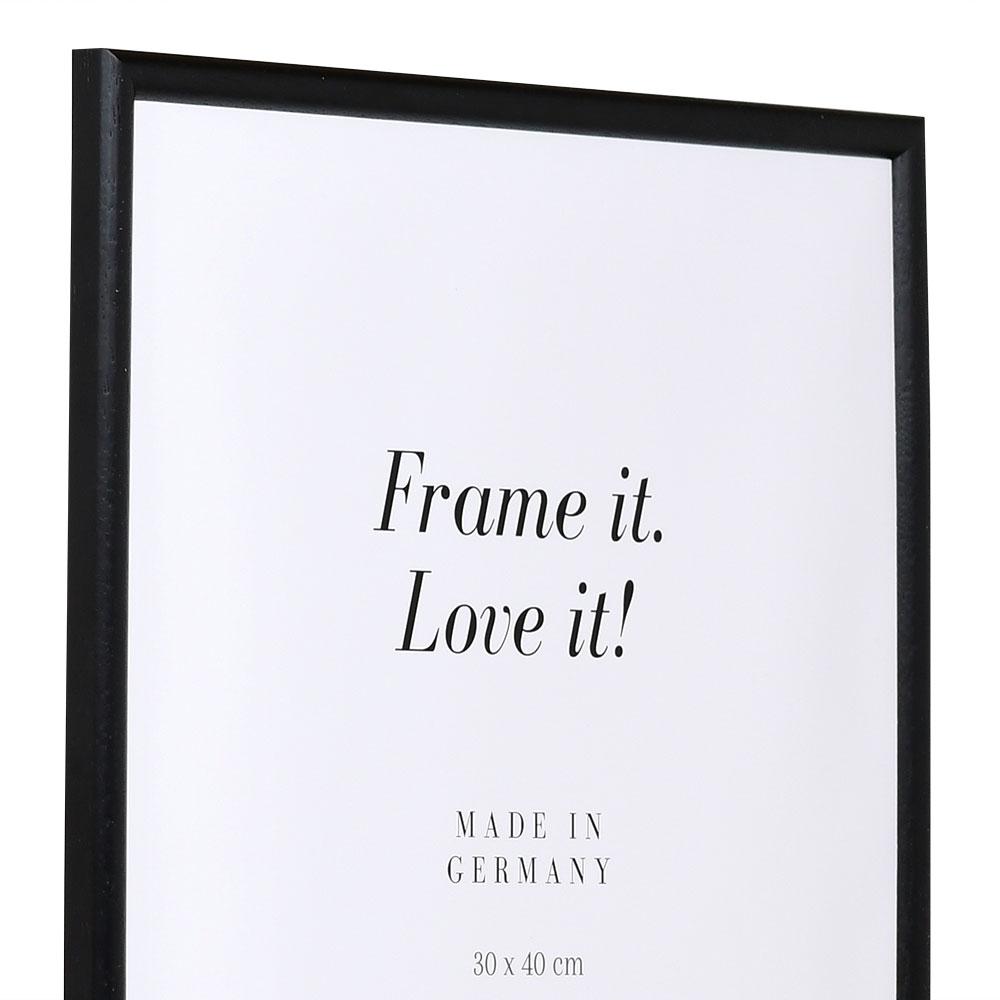 Holzrahmen Avignon 10x15 | schwarz | Normalglas