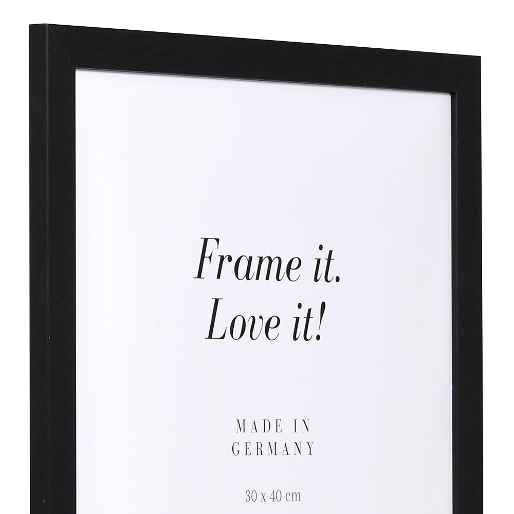 """Spar-Rahmen"" aus Holz 30x40 | schwarz | Normalglas"