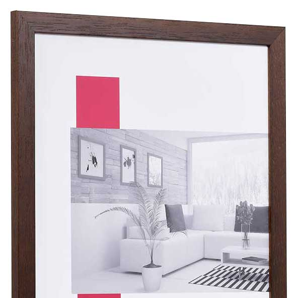 Spar-Rahmen aus Holz 30x40 | wenge | Normalglas